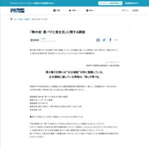 熱中症・夏バテと食生活に関する調査(首都圏の20~50代女性対象)