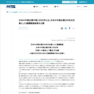 日本の中堅企業250社を対象とした意識調査