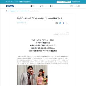 T&G ウェディングプランナー500人 アンケート調査 Vol.9