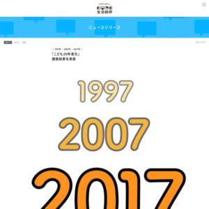 「こども20年変化」調査結果を発表