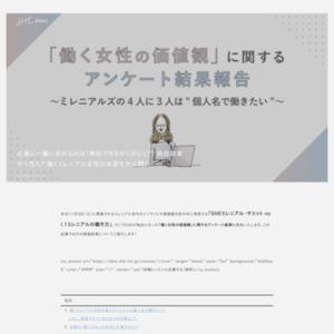 「働く女性の価値観」に関するアンケート