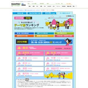 「2012年版 テーマ別街ランキング」(関東版)