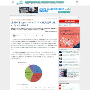 「スマートデバイスでのアプリ利用」に関する調査