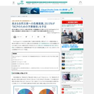 企業の災害対策に関する読者調査結果リポート