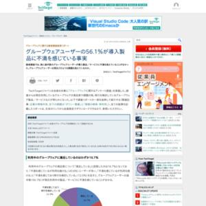 グループウェアに関する読者調査結果リポート