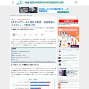企業のストレージ利用状況に関する調査リポート