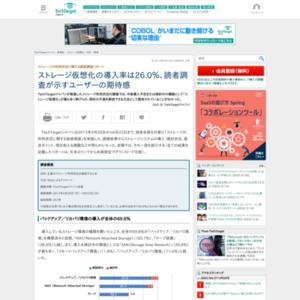 ストレージの利用状況に関する読者調査リポート