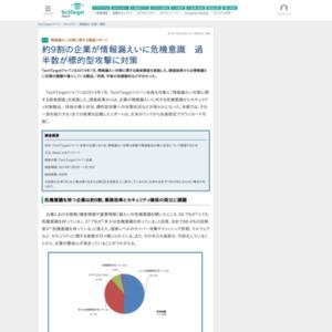 情報漏えい対策に関する調査リポート