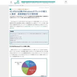 スマートデバイスの業務利用に関する調査リポート