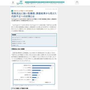 内部不正によるIT関連リスクに関する読者調査