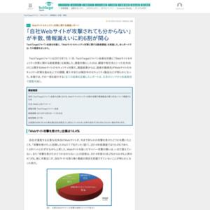 Webサイトセキュリティ対策に関する調査レポート