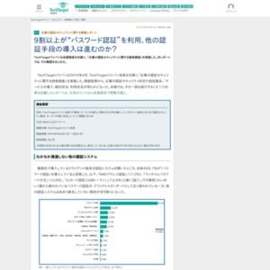 企業の認証セキュリティに関する調査レポート