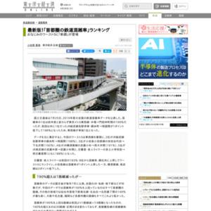 「首都圏の鉄道混雑率」ランキング
