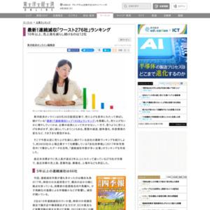 連続減収「ワースト276社」ランキング