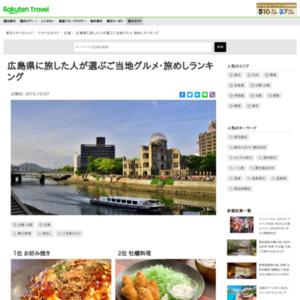 広島県に旅した人が選ぶ!広島県・旅めしランキング
