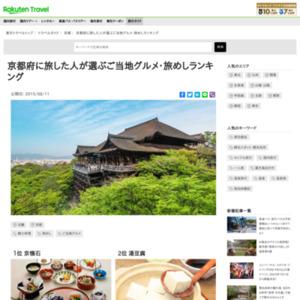京都府に旅した人が選ぶ!京都府・旅めしランキング