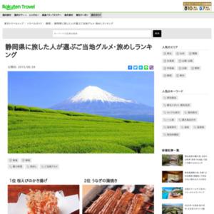 静岡に旅した人が選ぶ!静岡・旅めしランキング