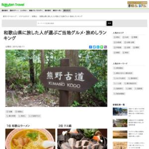 和歌山県に旅した人が選ぶ!和歌山県・旅めしランキング