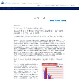 2014年の年始調査