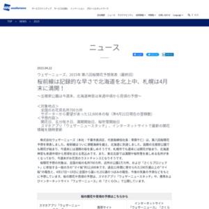 2015年 第八回桜開花予想(最終回)