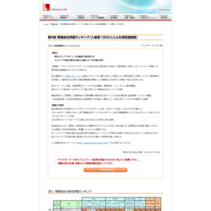 第5回管理会社評価ランキング(入居者1000人による満足度調査)