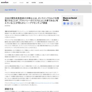 日本の慢性疾患患者の半数以上は、オンラインでカルテを閲覧できることがプライバシーのリスク以上に大事であると考えていることが明らかに