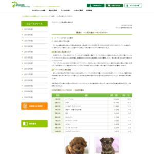 人気犬種ランキング2010