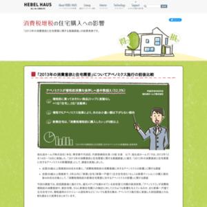 2013年の消費意欲と住宅需要に関する意識調査