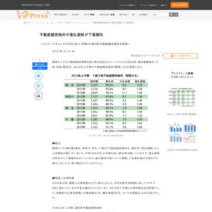 2012年上半期の1都3県不動産競売統計