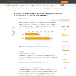 """""""ひと夏の恋""""に関する意識調査"""