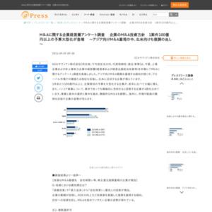 M&Aに関する企業経営層アンケート調査