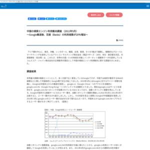 中国の検索エンジン利用動向調査