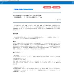 世界30ヶ国注目キーワード調査 Vol.7【2011年12月度】