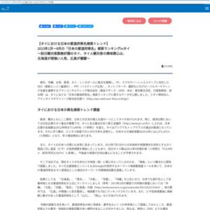 2013年1月~8月の「日本の都道府県名」検索ランキングinタイ