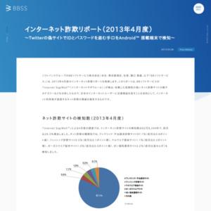 インターネット詐欺リポート(2013年4月度)