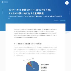 インターネット詐欺リポート(2013年6月度) スマホでの買い物に対する意識調査