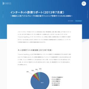 インターネット詐欺リポート(2013年7月度)