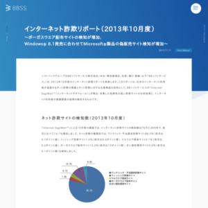 インターネット詐欺リポート(2013年10月度)