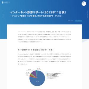インターネット詐欺リポート(2013年11月度)