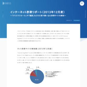 インターネット詐欺リポート(2013年12月度)