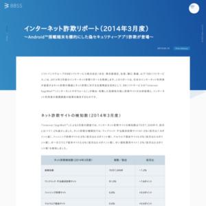 インターネット詐欺リポート(2014年3月度)