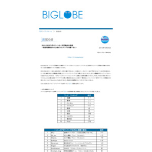BIGLOBEが9月のツイッター利用動向を発表~緊急地震速報から5分時点でランキングが地震一色に~
