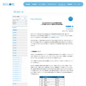 BIGLOBEが9月のTwitter利用動向を発表~「半沢直樹」「あまちゃん」最終回と東京五輪が話題~