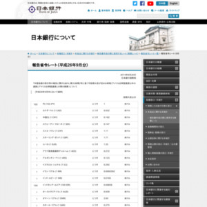 報告省令レート(2014年9月分)