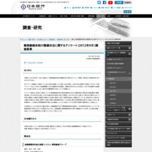 (論文)業務継続体制の整備状況に関するアンケート(2012年9月)調査結果