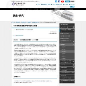 (論文)わが国短期金融市場の動向と課題
