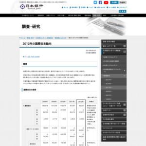 (論文)2012年の国際収支動向