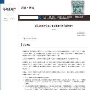 (論文)2012年度中における日本銀行の対政府取引