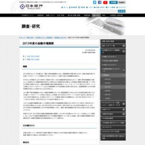 (論文)2013年度の金融市場調節