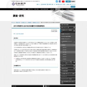 (論文)2014年度中における日本銀行の対政府取引